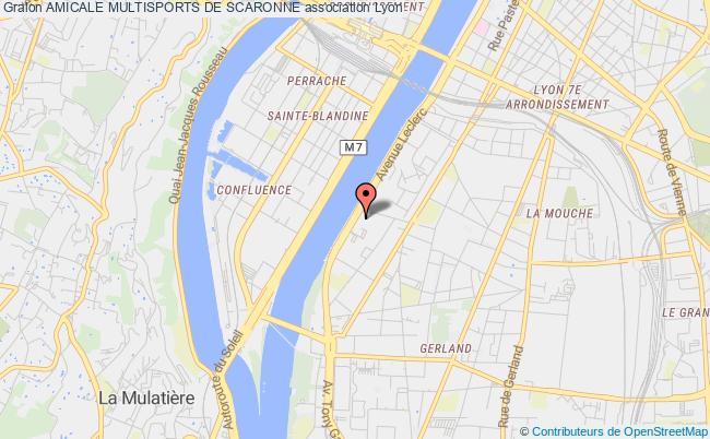 plan association Amicale Multisports De Scaronne
