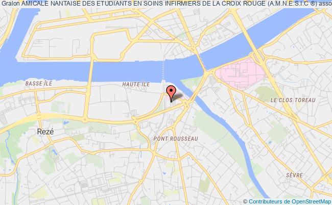 plan association Amicale Nantaise Des Etudiants En Soins Infirmiers De La Croix Rouge (a.m.n.e.s.i.c ®)