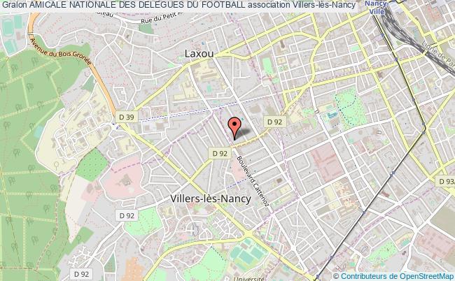 plan association Amicale Nationale Des Delegues Du Football