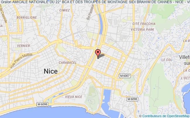 plan association Amicale Nationale Du 22° Bca Et Des Troupes De Montagne Sidi Brahim De Cannes - Nice - Villefranche Sur Mer Nice