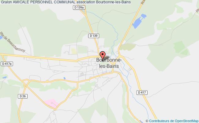 plan association Amicale Personnel Communal Bourbonne-les-Bains