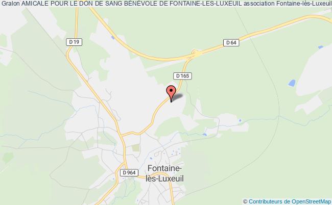 plan association Amicale Pour Le Don De Sang BÉnÉvole De Fontaine-les-luxeuil