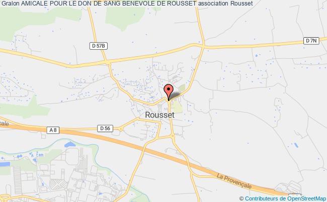 plan association Amicale Pour Le Don De Sang Benevole De Rousset