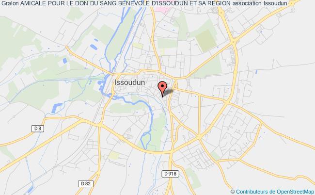 plan association Amicale Pour Le Don Du Sang Benevole D'issoudun Et Sa Region Issoudun