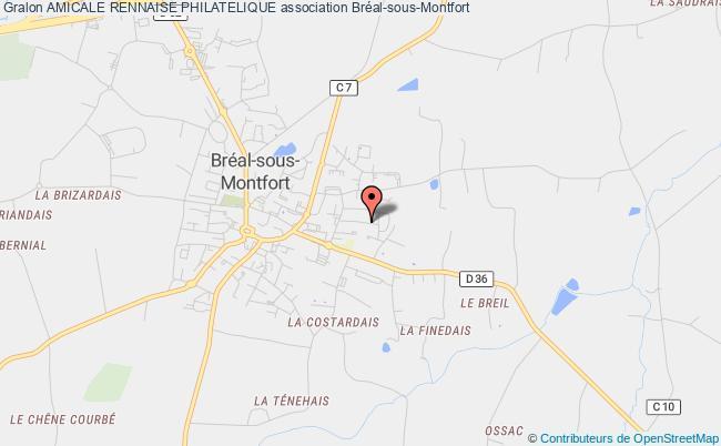 plan association Amicale Rennaise Philatelique Chantepie