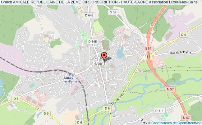 plan association Amicale RÉpublicaine De La 2Ème Circonscription - Haute-saÔne