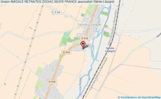 plan association Amicale Retraites Zodiac Seats France Sainte-Lizaigne