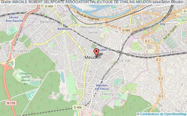 plan association Amicale Robert Delaporte Association Halieutique De Chalais-meudon