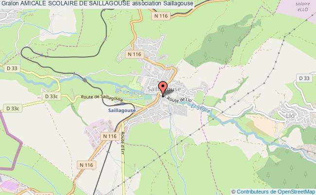 plan association Amicale Scolaire De Saillagouse Saillagouse