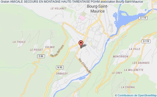 plan association Amicale Secours En Montagne Haute-tarentaise Pghm