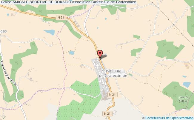 plan association Amicale Sportive De Bokaido Castelnaud-de-Gratecambe