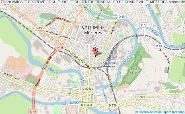 plan association Amicale Sportive Et Culturelle Du Centre Hospitalier De Charlevill E-mezieres