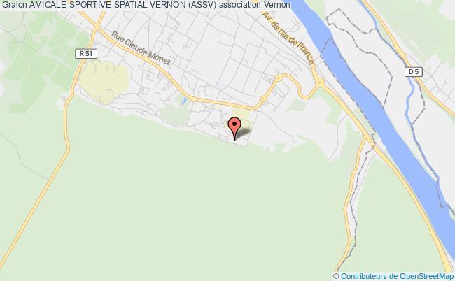 plan association Amicale Sportive Spatial Vernon (assv) Vernon