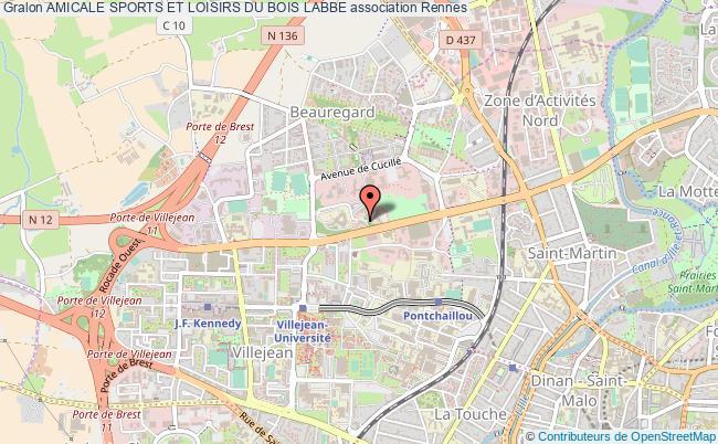 plan association Amicale Sports Et Loisirs Du Bois Labbe Rennes