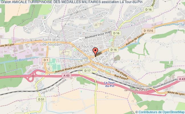 plan association Amicale Turripinoise Des Medailles Militaires La    Tour-du-Pin