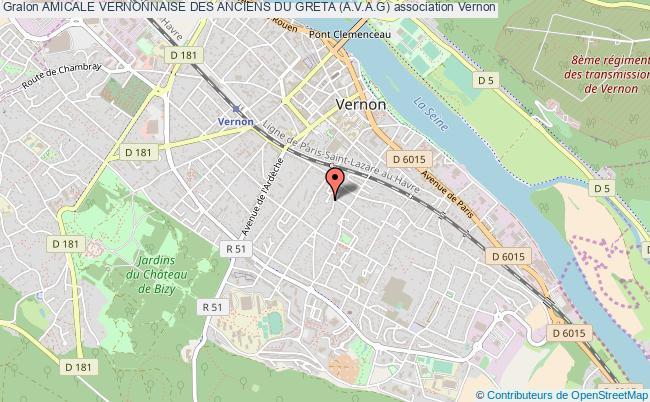 plan association Amicale Vernonnaise Des Anciens Du Greta (a.v.a.g)