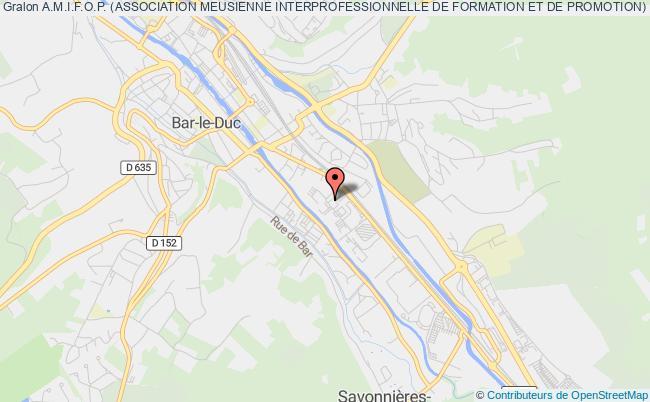 plan association A.m.i.f.o.p. (association Meusienne Interprofessionnelle De Formation Et De Promotion)