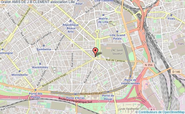 plan association Amis De J.b Clement