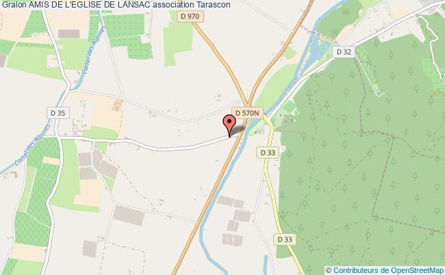 plan association Amis De L'eglise De Lansac