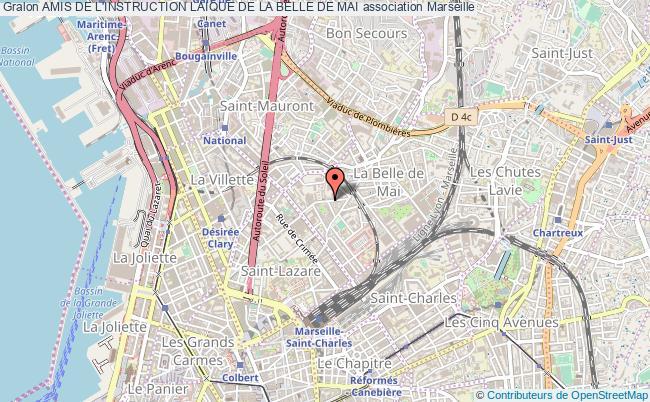plan association Amis De L'instruction Laique De La Belle De Mai Marseille
