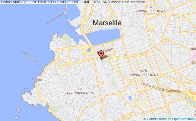 plan association Amis De L'instruction Laique Endoume Catalans Marseille