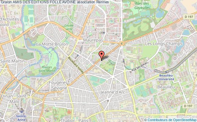 plan association Amis Des Editions Folle Avoine Rennes