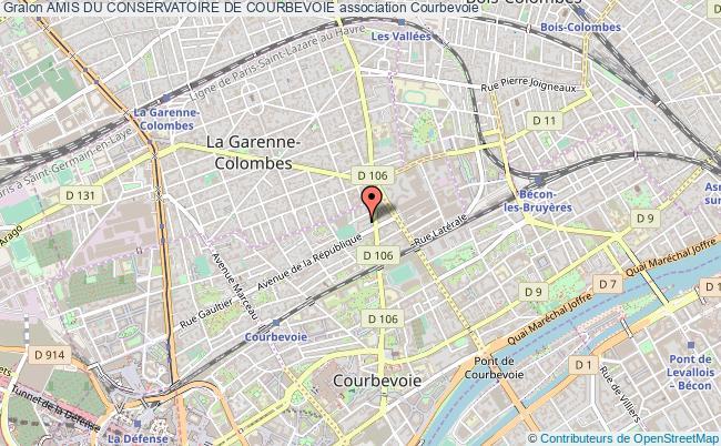 plan association Amis Du Conservatoire De Courbevoie Courbevoie