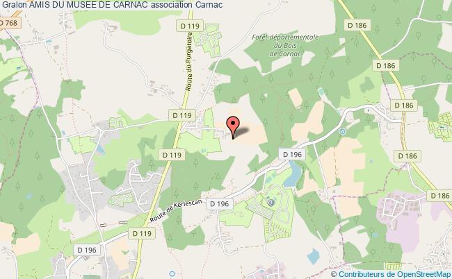plan association Amis Du Musee De Carnac
