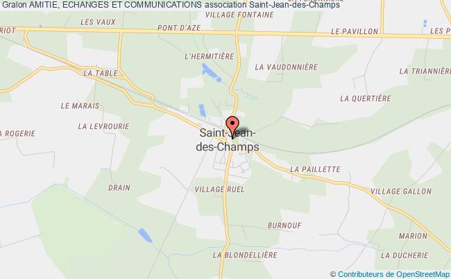 plan association Amitie, Echanges Et Communications Saint-Jean-des-Champs