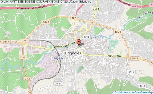 plan association Amitie En Bonne Compagnie (a.b.c) Brignoles