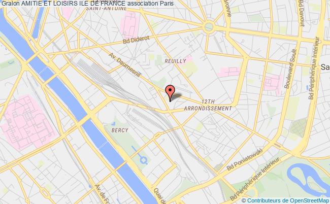 plan association Amitie Et Loisirs Ile De France Paris
