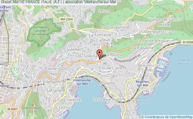 plan association Amitie France Italie (a.f.i.) Villefranche-sur-Mer