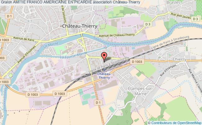 plan association Amitie Franco Americaine En Picardie