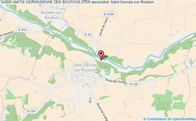 plan association Amitie Gervaisienne Des Boutons D'or Saint-Gervais-sur-Roubion