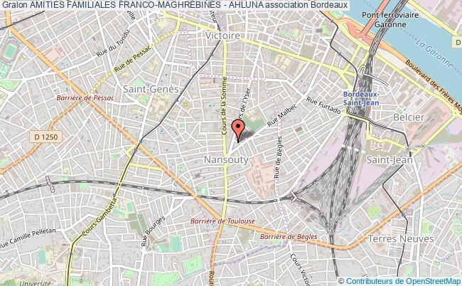 plan association AmitiÉs Familiales Franco-maghrÉbines - Ahluna Bordeaux