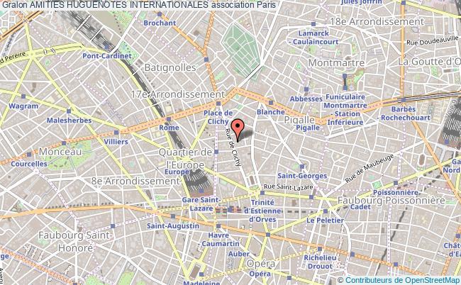 plan association Amities Huguenotes Internationales
