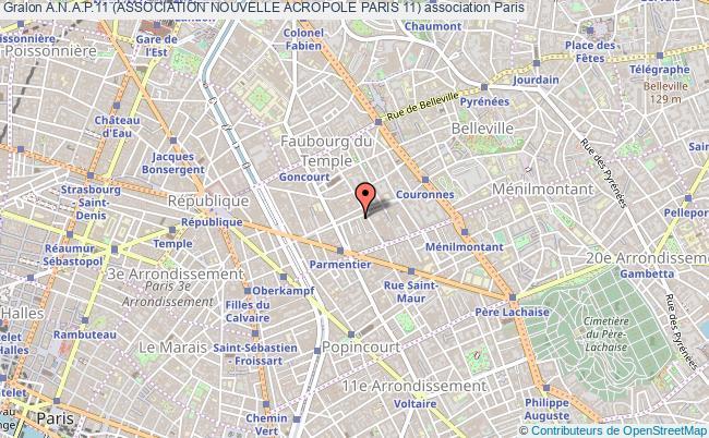 plan association A.n.a.p.11 (association Nouvelle Acropole Paris 11)