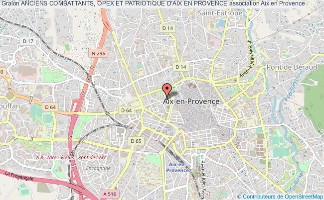 plan association Anciens Combattants, Opex Et Patriotique D'aix En Provence