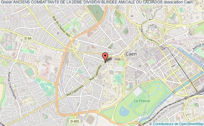 plan association Anciens Combattants De La 2eme Division Blindee Amicale Du Calvados Caen