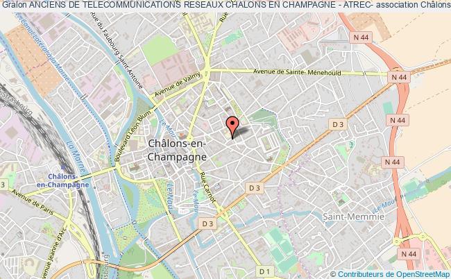 plan association Anciens De Telecommunications Reseaux Chalons En Champagne - Atrec-