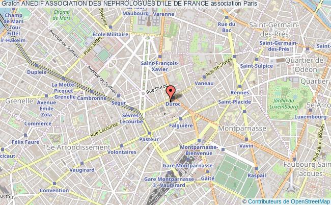 plan association Anedif Association Des Nephrologues D'ile De France