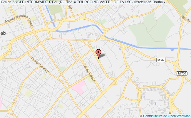 plan association Angle Interm'aide Rtvl (roubaix Tourcoing Vallee De La Lys)
