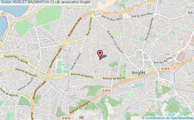 plan association Anglet Badminton Club