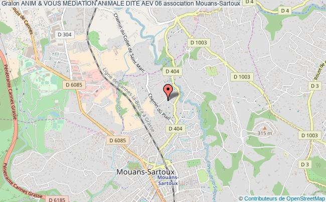plan association Anim & Vous Mediation Animale Dite Aev 06 Mouans-Sartoux