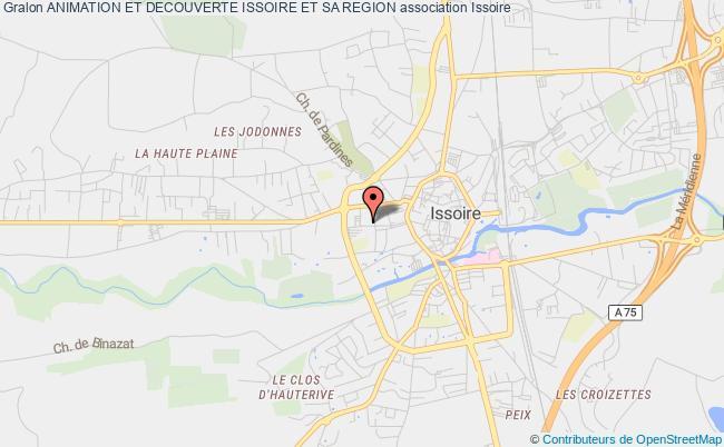 plan association Animation Et Decouverte Issoire Et Sa Region Issoire