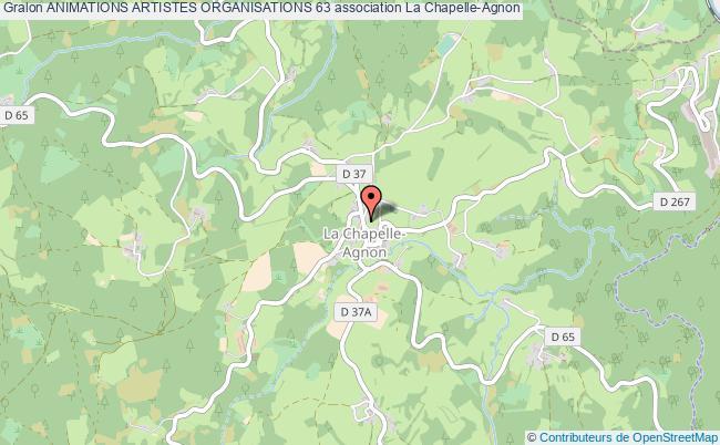 plan association Animations Artistes Organisations 63 La    Chapelle-Agnon