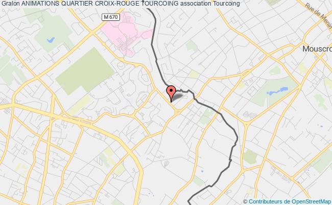 plan association Animations Quartier Croix-rouge Tourcoing