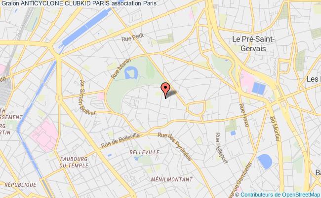 plan association Anticyclone Clubkid Paris