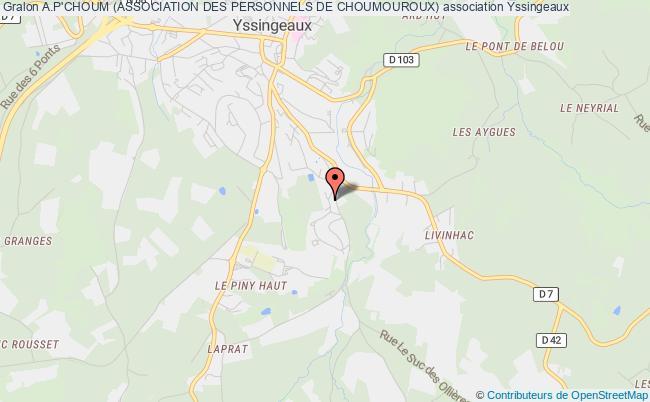 plan association A.p'choum (association Des Personnels De Choumouroux) Yssingeaux