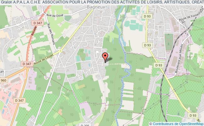 plan association A.p.a.l.a.c.h.e  Association Pour La Promotion Des ActivitÉs De Loisirs, Artistiques, CrÉatives, Horticoles Et Écologiques